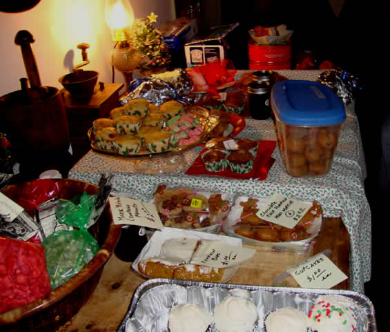 A wonderful assortment ofdelicious  homemade baked goods made by Elmbrook Historical Society members .were sold.
