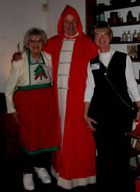 Father Christmas greess Laurel Mellone and           at A Celtic Christmas at the Inn